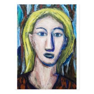 English Teacher (portrait expressionism) Postcard