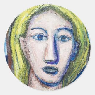 English Teacher portrait expressionism Stickers