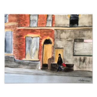 English Town Street Photo Print