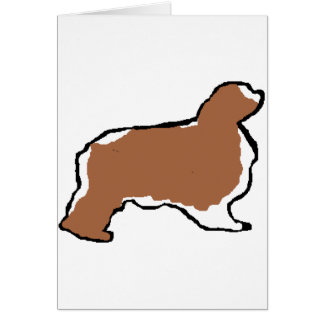 english toy spaniel blenheim silo card