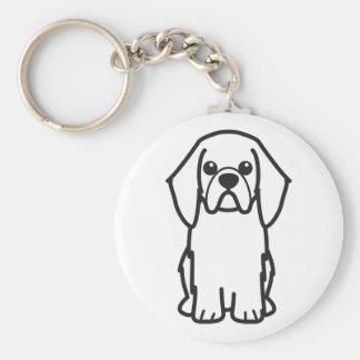 English Toy Spaniel Dog Cartoon Keychains