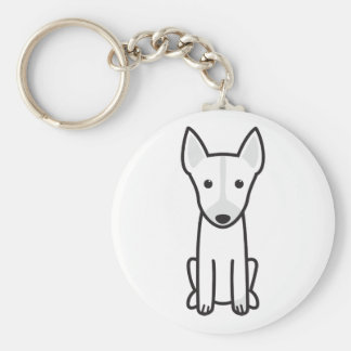 English Toy Terrier Dog Cartoon Keychain