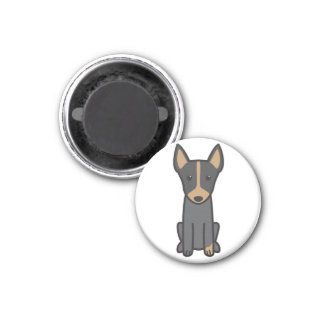 English Toy Terrier Dog Cartoon Magnet