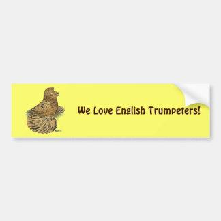 English Trumpeter Almond Bumper Sticker