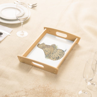 English Trumpeter Almond Serving Tray