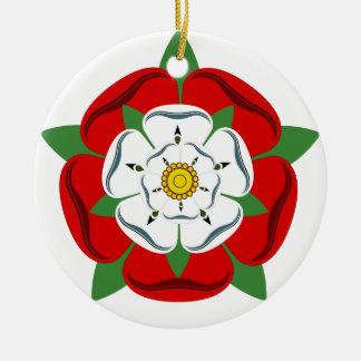 English Tudor Rose Ceramic Ornament