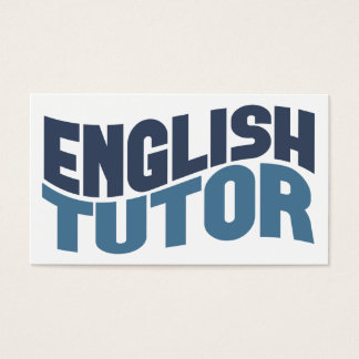 English Tutor Business Cards