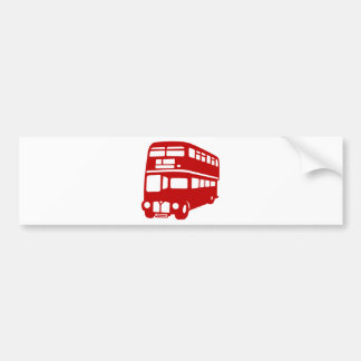 English two-floor bus bumper sticker
