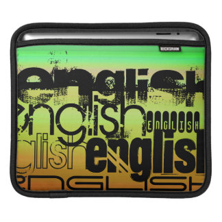 English; Vibrant Green, Orange, & Yellow Sleeve For iPads