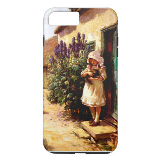 English Village Girl and Cat iPhone 7 Plus Case