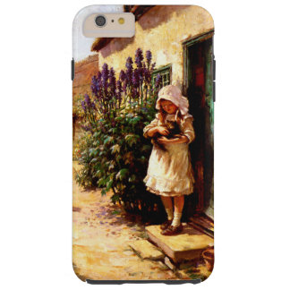 English Village Girl and Cat Tough iPhone 6 Plus Case