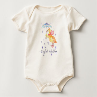"""English Weather"" Baby organic bodysuit"