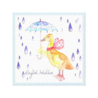 """English Weather"" Kids Canvas Print 12"" x 12"""