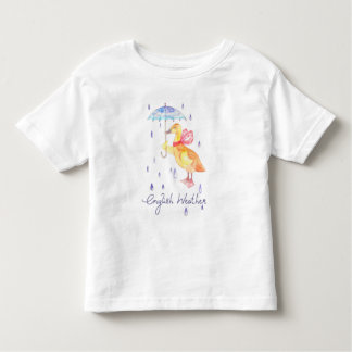 """English Weather"" Toddler fine jersey t-shirt"
