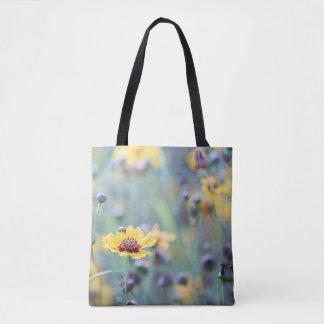 English wild flowers tote bag