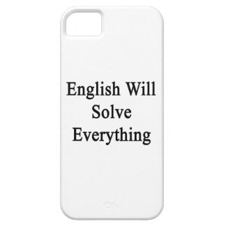 English Will Solve Everything iPhone 5 Cover