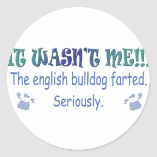 EnglishBulldog Round Stickers