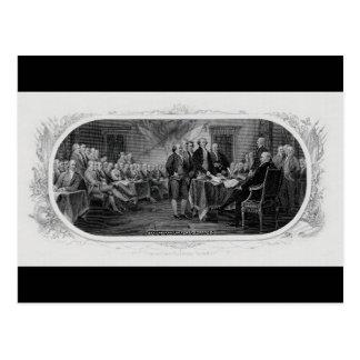 Engraved Declaration of Independence John Trumbull Postcard