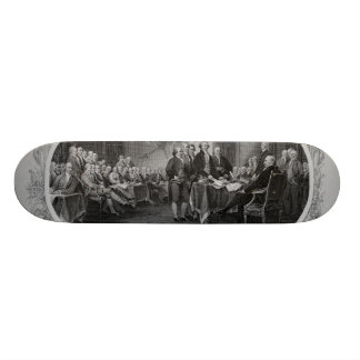 Engraved Declaration of Independence John Trumbull Skate Board