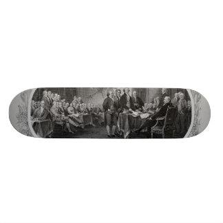Engraved Declaration of Independence John Trumbull Skate Board Decks
