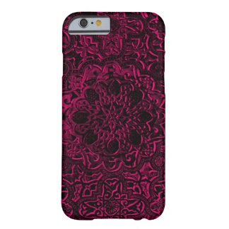 Engraved Decorative Pink Demon Lotus Mandala Barely There iPhone 6 Case