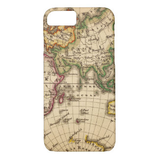 Engraved Eastern Hemisphere Map iPhone 7 Case