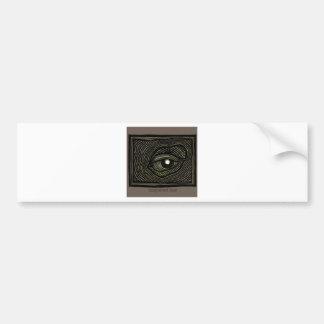 Engraved Eye Bumper Sticker