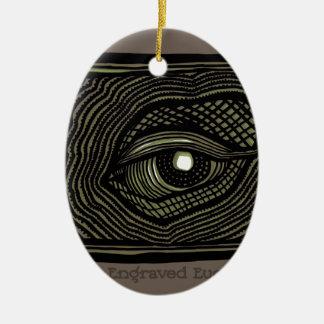 Engraved Eye Ceramic Ornament