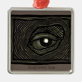 Engraved Eye Metal Ornament