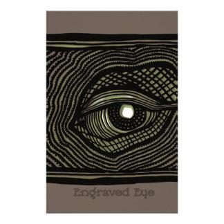 Engraved Eye Stationery