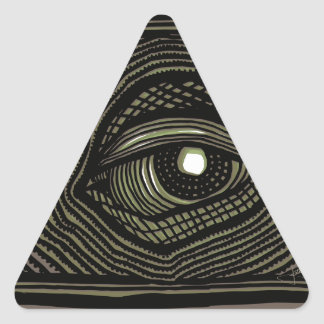 Engraved Eye Triangle Sticker