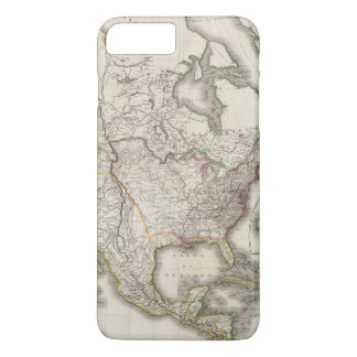 Engraved Map of North America iPhone 7 Plus Case