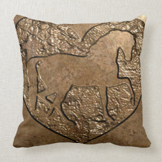 Engraved Silhouetted Horse Cushion