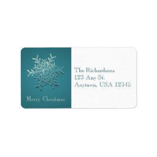 Engraved Snowflake Address Labels