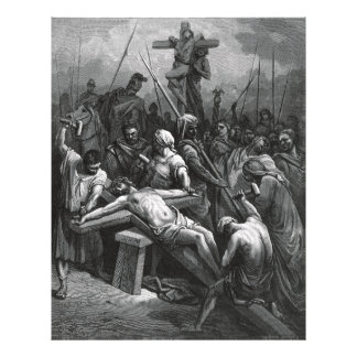 Engraving Jesus Crucifixion 1866 by Gustave Dore Photo