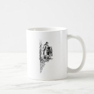 Engraving of Man, Boy and Beehive Mugs