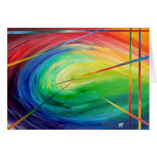 Engulfed - abstract Art Card