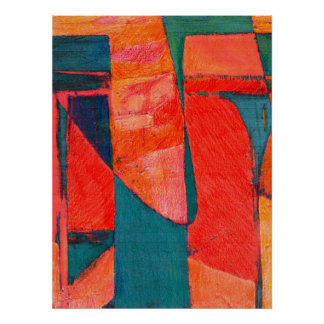 Enigma Colorful Abstract Art Poster