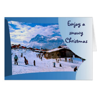 Enjoy a snowy Christmas in the French alps 1 Card