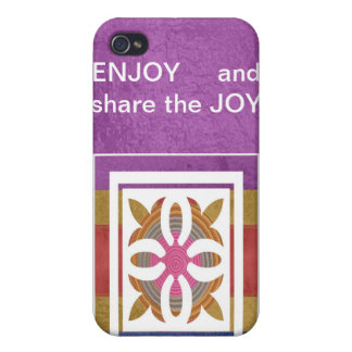 ENJOY and share the JOY - HAPPY Expressions iPhone 4/4S Cases