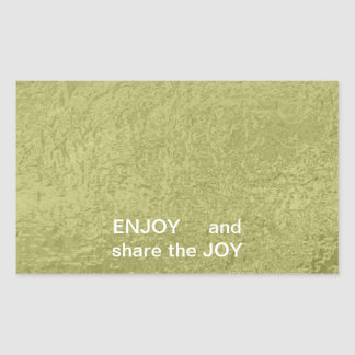 ENJOY and share the JOY -  HAPPY Expressions Rectangular Sticker