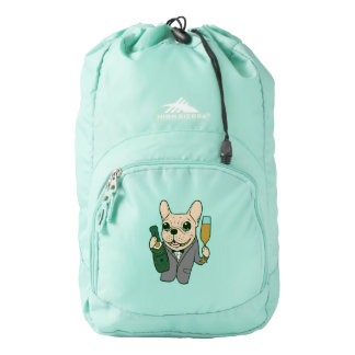Enjoy Champagne with Frenchie at Your Celebration Backpack