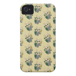 Enjoy Champagne with Frenchie at Your Celebration Case-Mate iPhone 4 Case