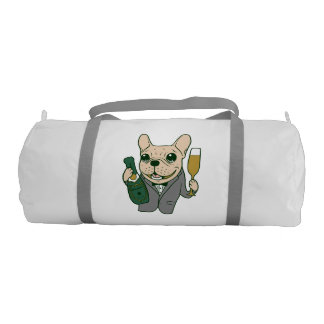 Enjoy Champagne with Frenchie at Your Celebration Gym Bag