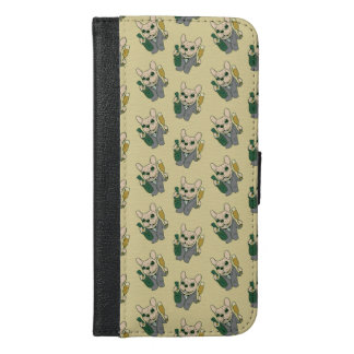 Enjoy Champagne with Frenchie at Your Celebration iPhone 6/6s Plus Wallet Case