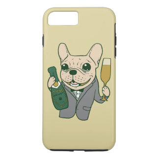 Enjoy Champagne with Frenchie at Your Celebration iPhone 7 Plus Case