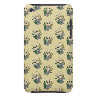 Enjoy Champagne with Frenchie at Your Celebration iPod Case-Mate Case