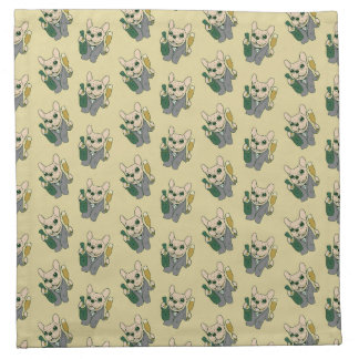 Enjoy Champagne with Frenchie at Your Celebration Napkin