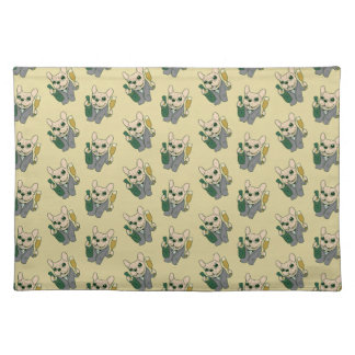Enjoy Champagne with Frenchie at Your Celebration Placemat