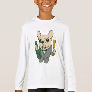 Enjoy Champagne with Frenchie at Your Celebration T-Shirt